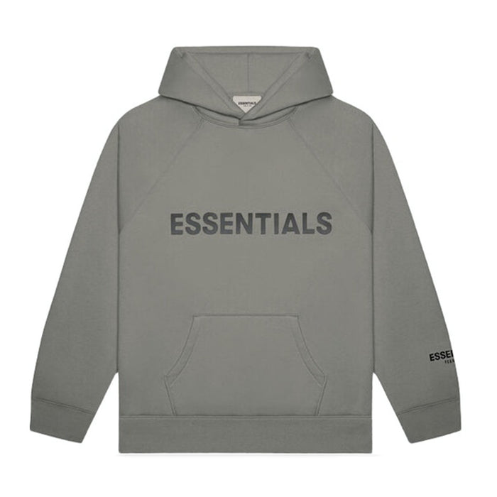 FOG ESSENTIALS Applique Pullover Hoodie Grey Charcoal