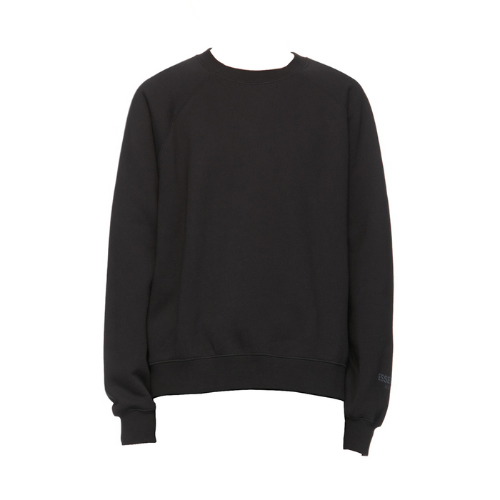 ESSENTIALS Black Fleece Crewneck Sweatshirt