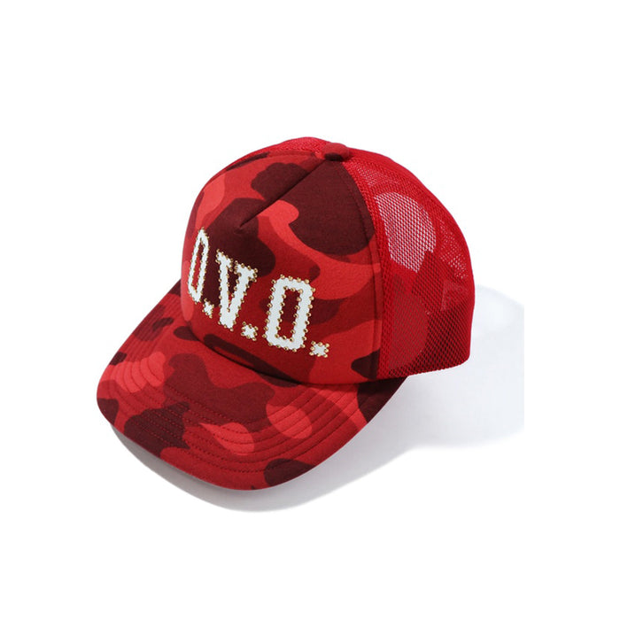 BAPE x OVO Color Camo Mesh Cap Red