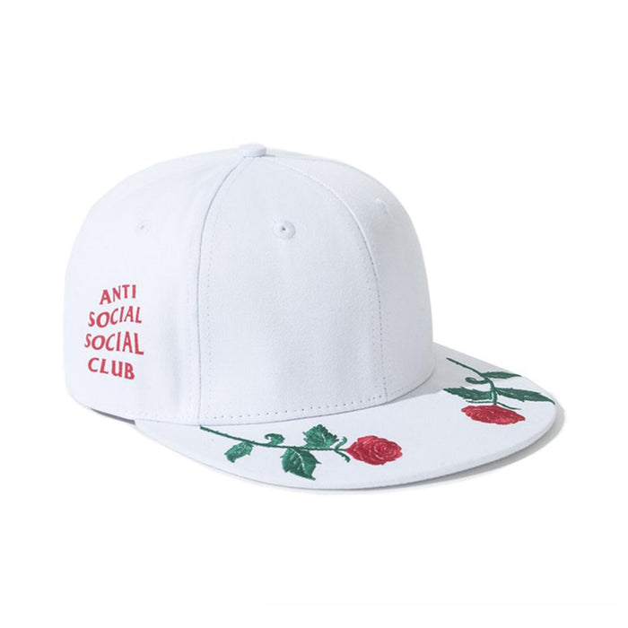 Anti Social Social Club Roses Are Red Snapback White