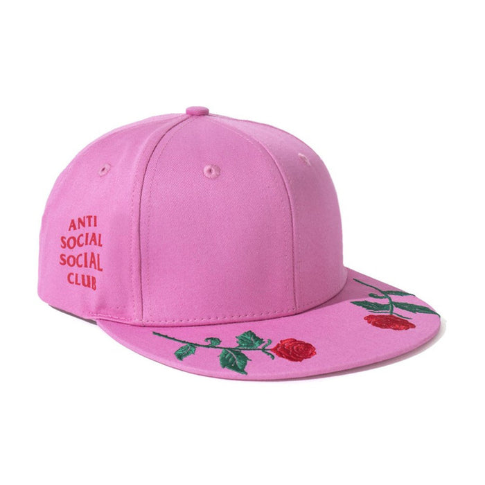Anti Social Social Club Roses Are Red Snapback Pink