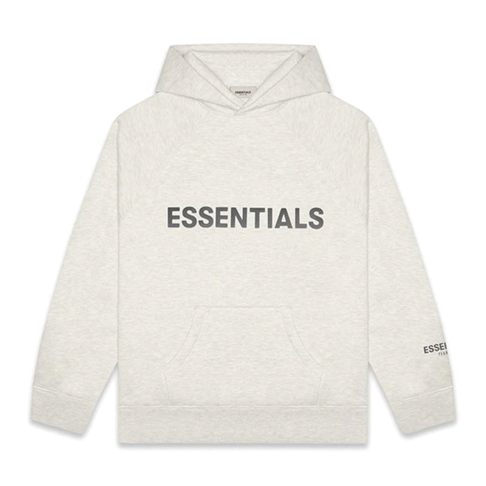 FOG ESSENTIALS 3D Silicon Applique Pullover Hoodie Light Heather Oatmeal