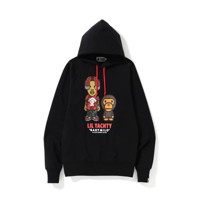 BAPE Baby Milo x Lil Yachty Pullover Hoodie Black