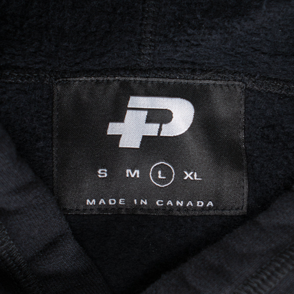 Plus Embroidered Logo Hoodie Black