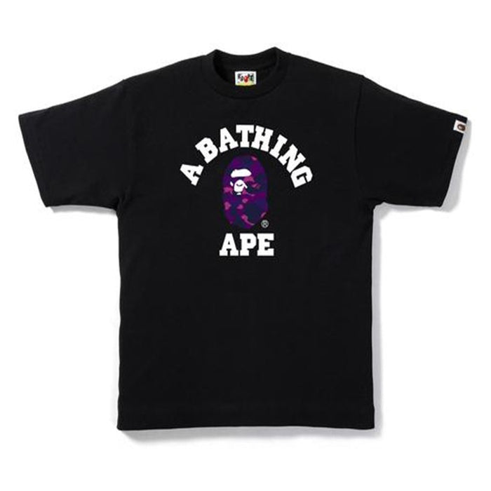 BAPE Color Camo College Tee Black/Purple