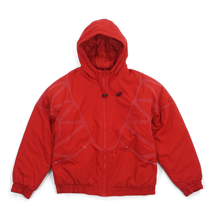 Supreme Zig Zag Stitch Puffy Jacket Red
