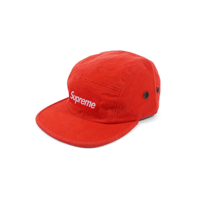 Supreme Napped Canvas Camp Cap Red