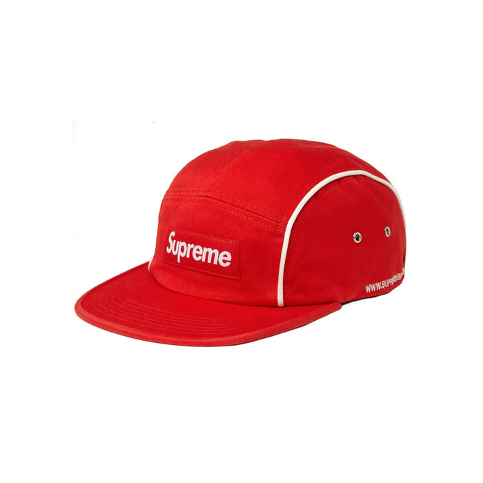 Supreme Piping Camp Cap Red