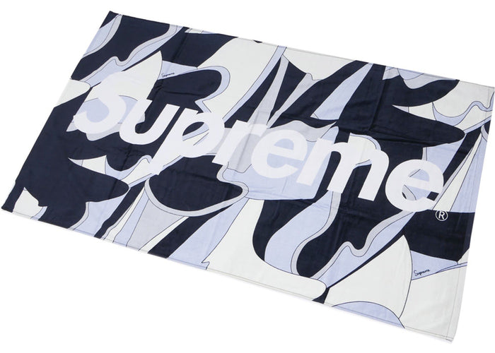 Supreme Abstract Beach Towel Black