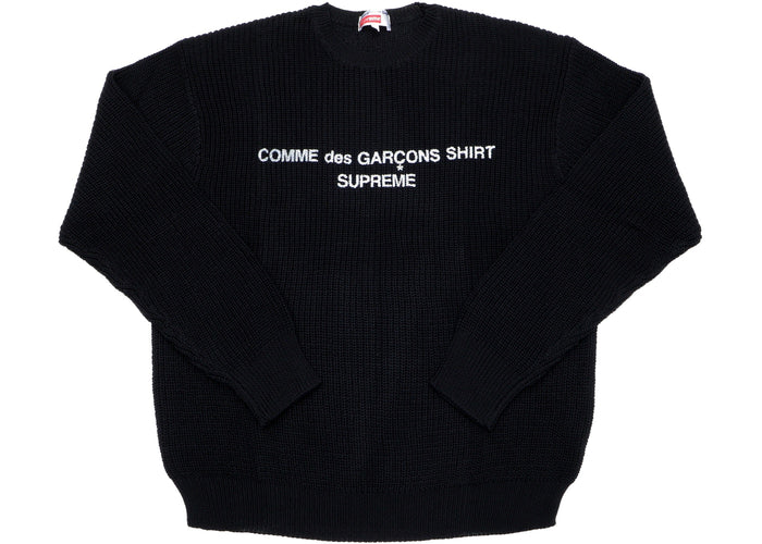Supreme Comme des Garcons SHIRT Sweater Black