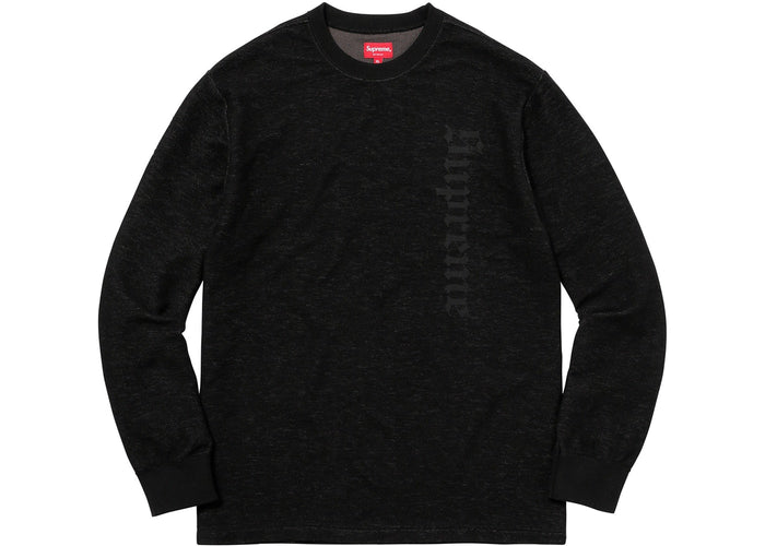 Supreme Reverse Terry L/S Top Black