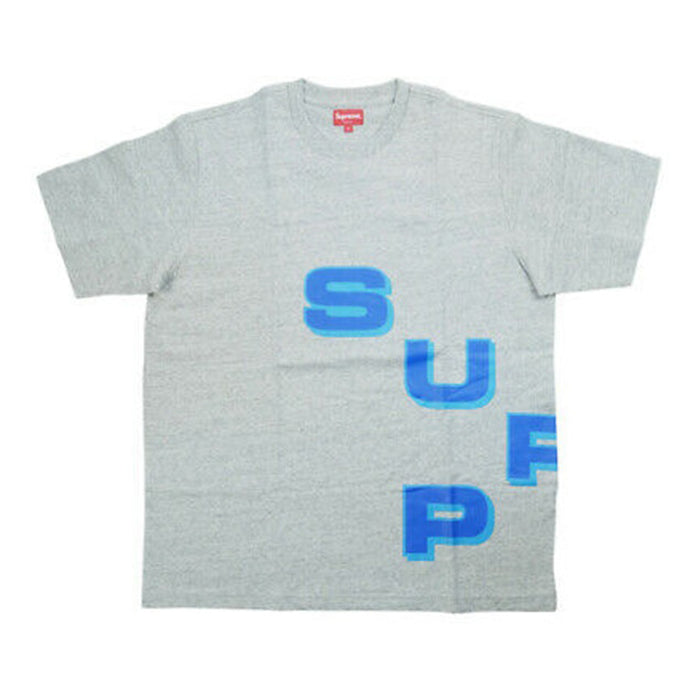 Supreme Stagger Tee Heather Grey