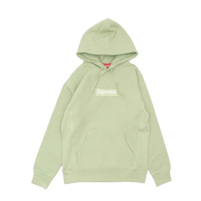 Supreme Box Logo Hooded Sweatershirt Sage