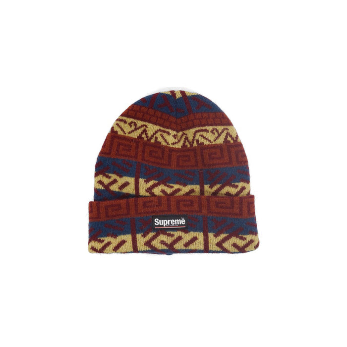 Supreme Brushed Pattern Beanie Navy