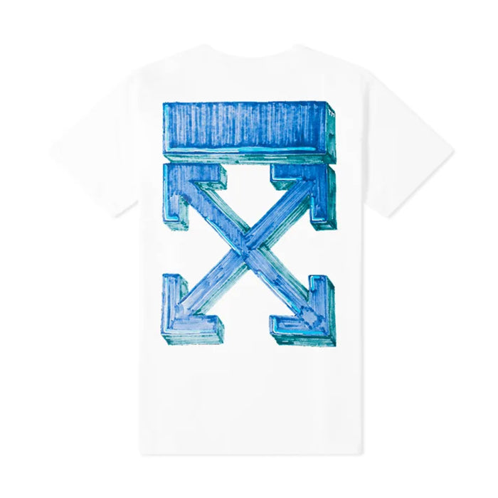 Off-White Marker S/S Slim Tee White/Blue