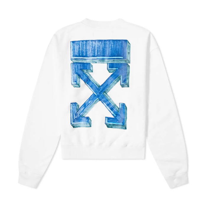 Off-White Marker Over Crewneck White/Blue