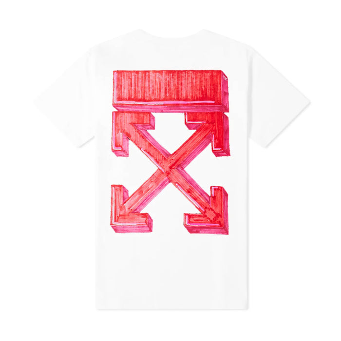 Off-White Marker S/S Slim Tee White/Red