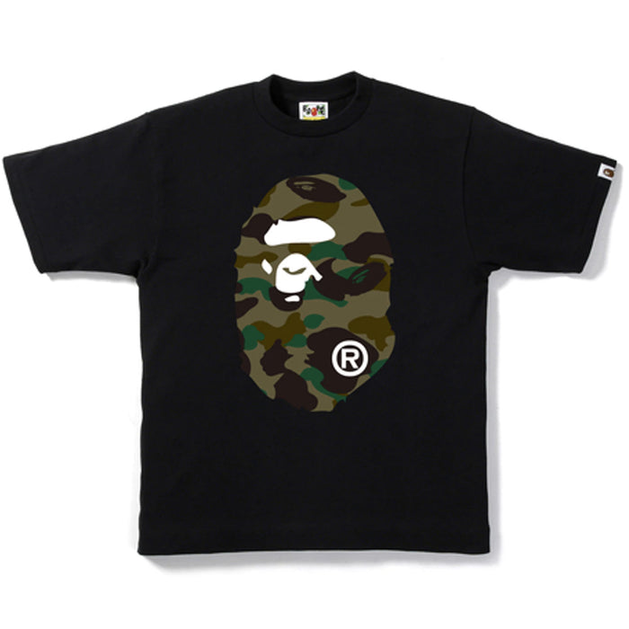 Bape 1st Camo Big Ape Head Tee Black/Green