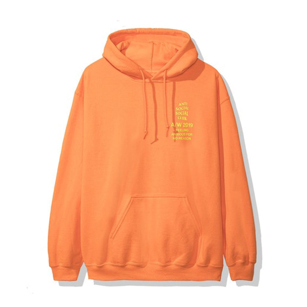 Anti Social Social Club Feeling Anxious Hoodie Neon Orange