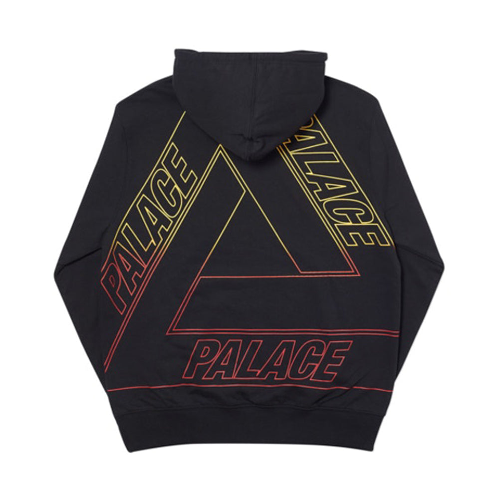 Palace Linear Triple Fade Hood Black