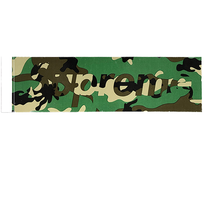 Supreme Green Camo Box Logo Sticker F/W 2020