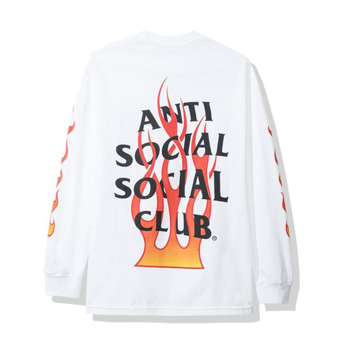 Anti Social Social Club Firebird Long Sleeve Tee White