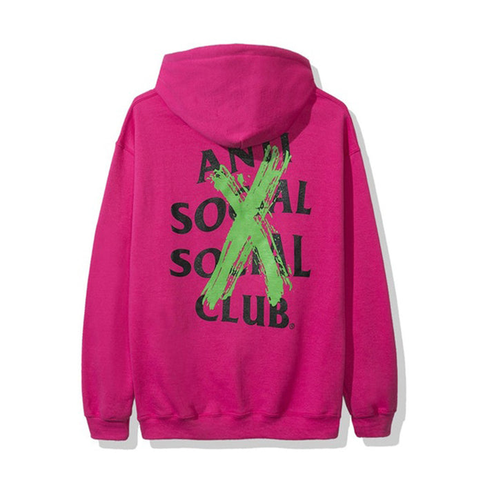 Anti Social Social Club Cancelled Remix Hoodie Pink
