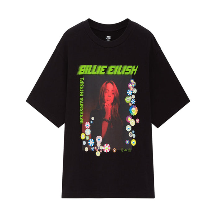 Takashi Murakami x Billie Eilish Flower Photo T-Shirt Black