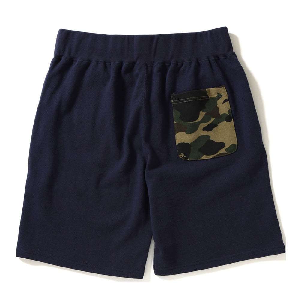 BAPE Shark Camo Pocket Sweat Shorts Navy/Green