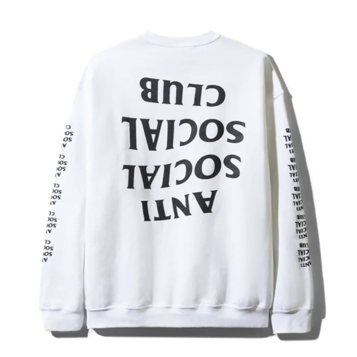Anti Social Social Club Blacked Out L/S White