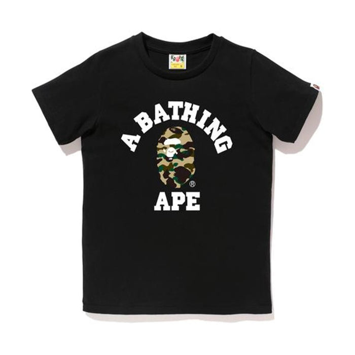 BAPE 1st Camo College Tee (Ladies) Black/Yellow