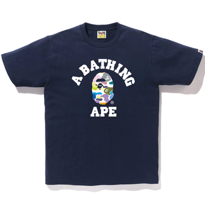 Bape Multi Camo College Tee Navy