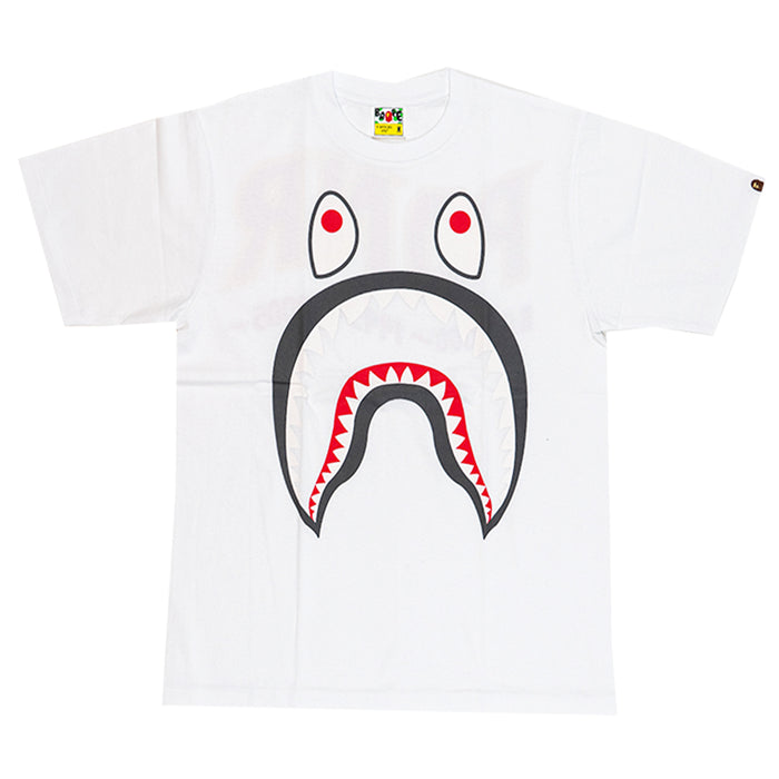 Bape PONR Shark Tee White/Grey