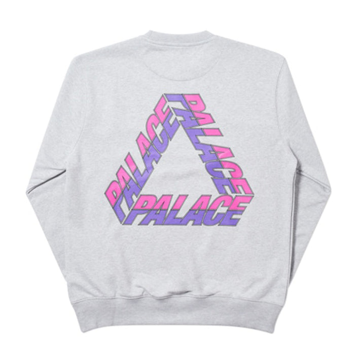 Palace Split P3 Crew Grey Marl