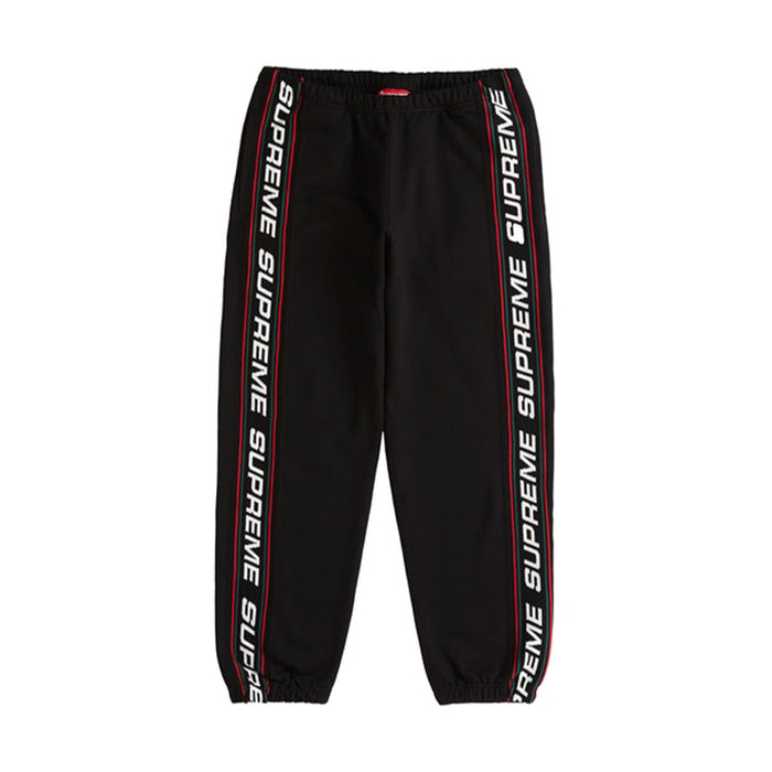 Supreme Text Rib Sweatpant Black