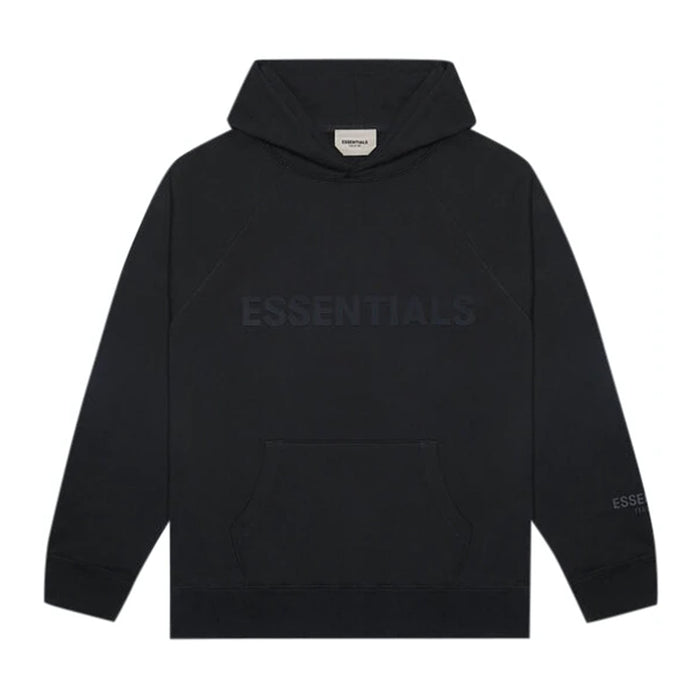 FOG ESSENTIALS 3D Silicon Applique Pullover Hoodie Black