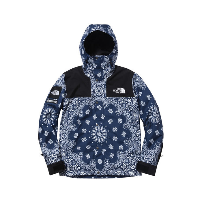 Supreme The North Face Navy Bandana Paisley Mountain Parka Jacket