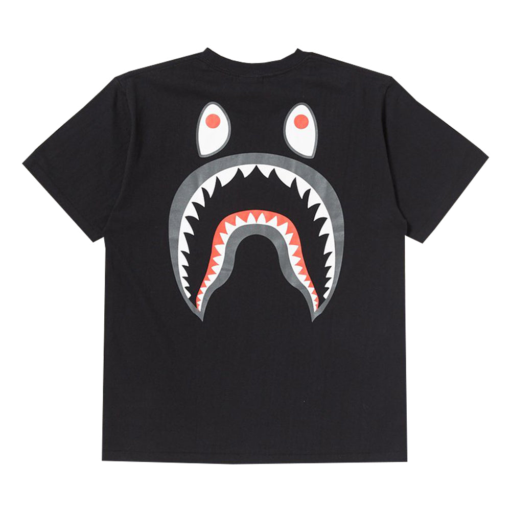 Bape PONR Back Shark Tee Black