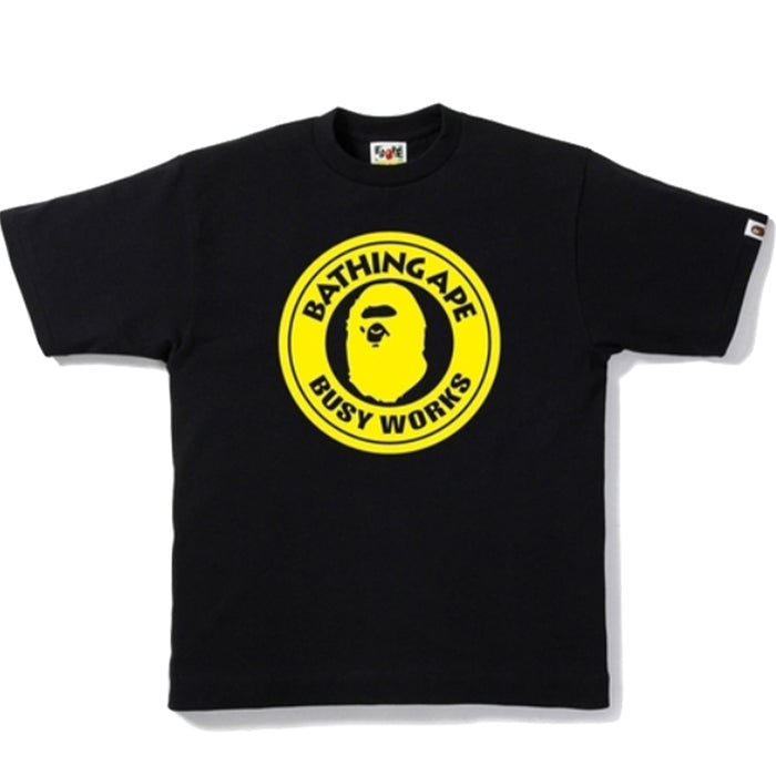 Bape Bicolor Busy Works Tee Black/Yellow