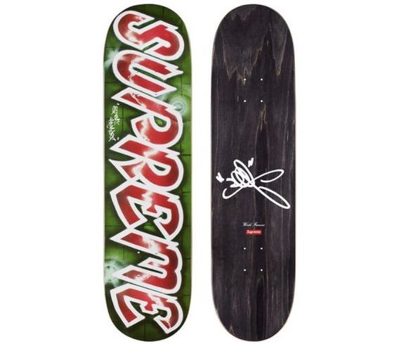 Supreme Lee Quinones Lee Logo Skateboard Deck Red