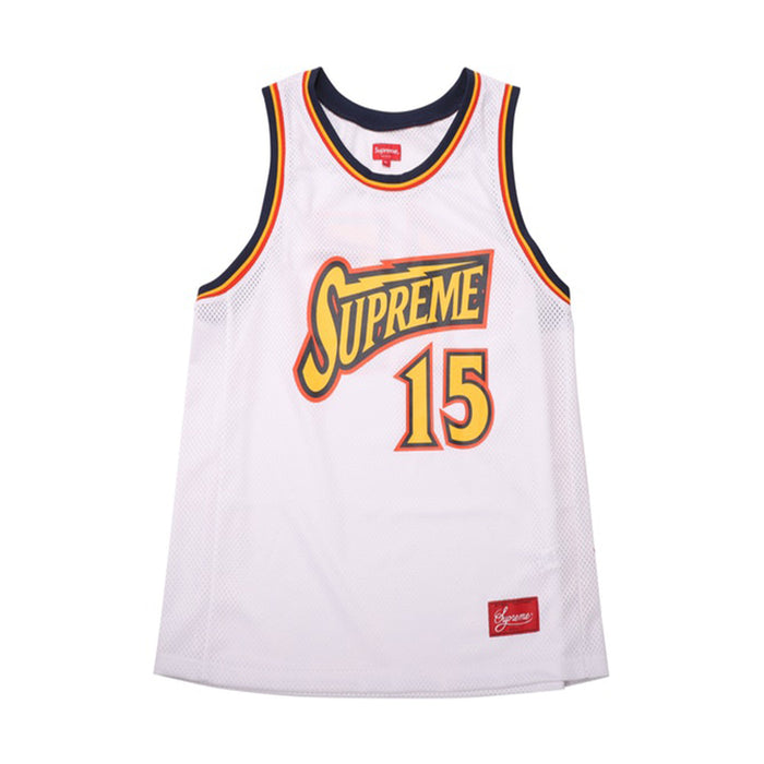 Supreme Bolt Basketball Jersey White