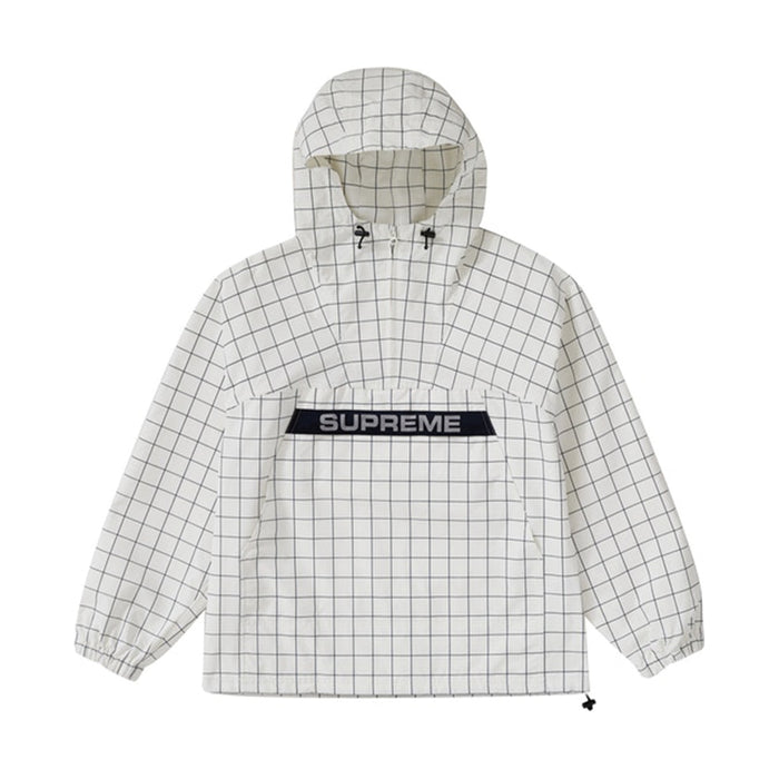 Supreme Heavy Nylon Anorak Windowpane