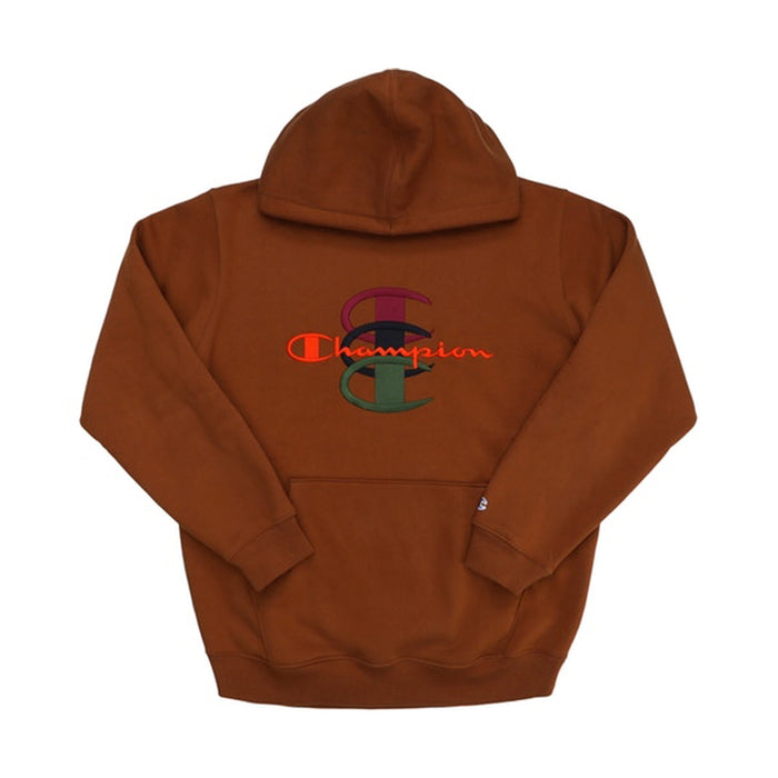 Supreme Champion Stacked C Hooded Sweatshirt Brown