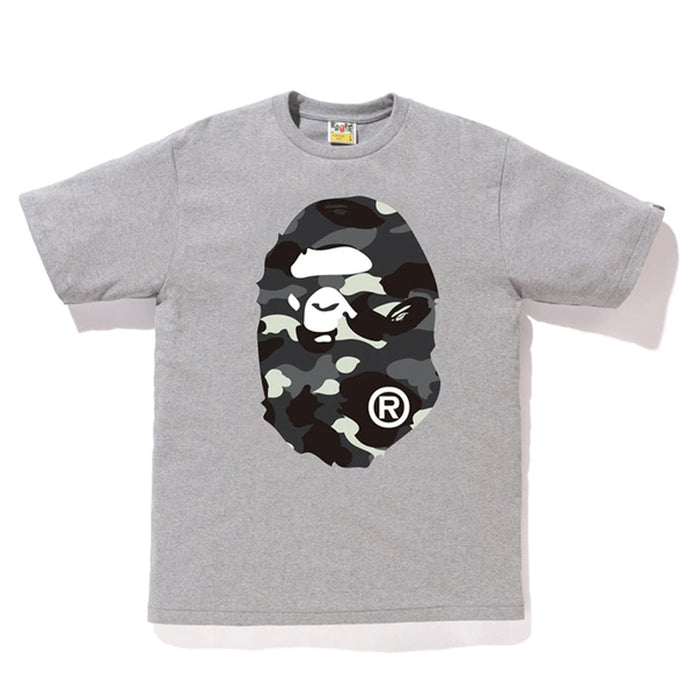 284d9b98 BAPE City Camo Big Ape Head Tee Grey/Black
