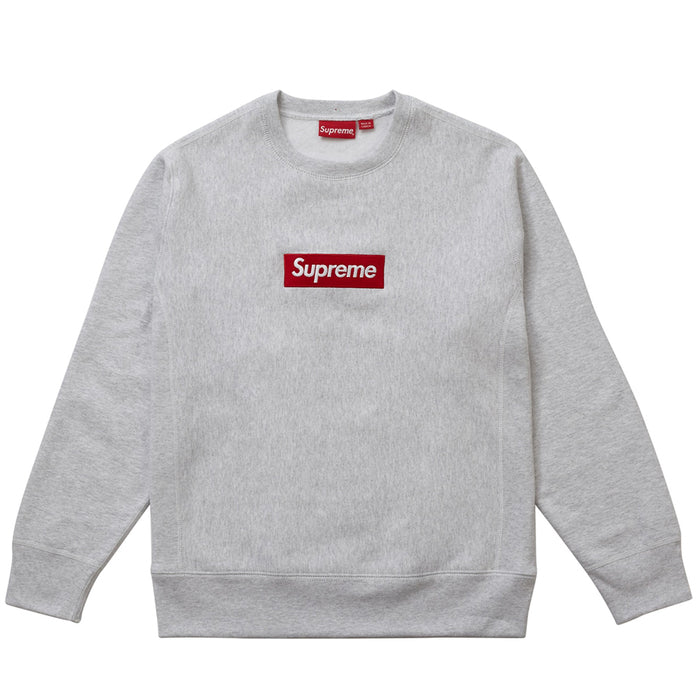 Supreme Box Logo Crewneck (FW18) Ash Grey