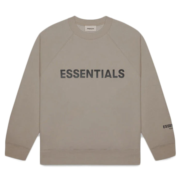 FOG ESSENTIALS 3D Silicon Applique Crewneck Taupe