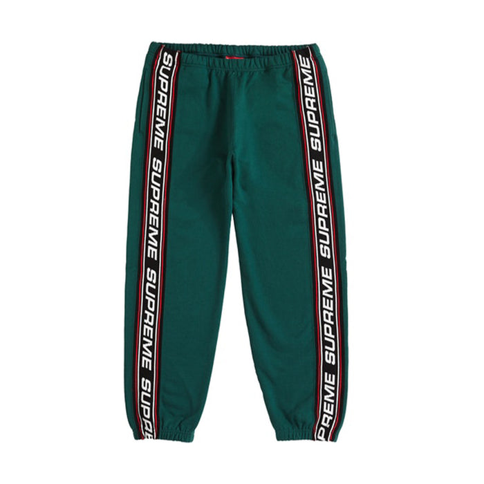 Supreme Text Rib Sweatpant Dark Green