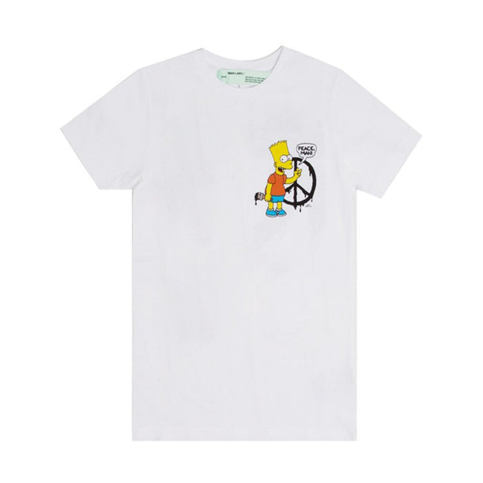 OFF-WHITE Bart Peace T-Shirt White