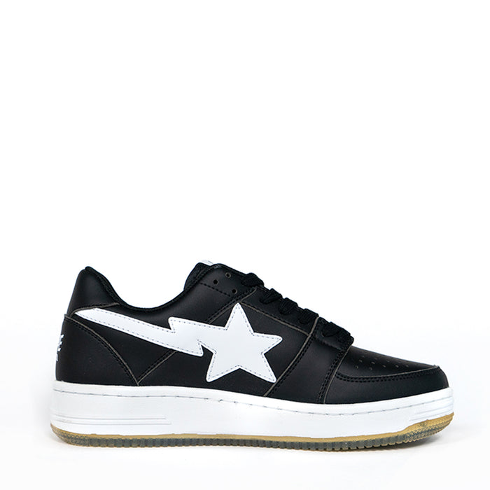 A Bathing Ape Bapesta Black Low