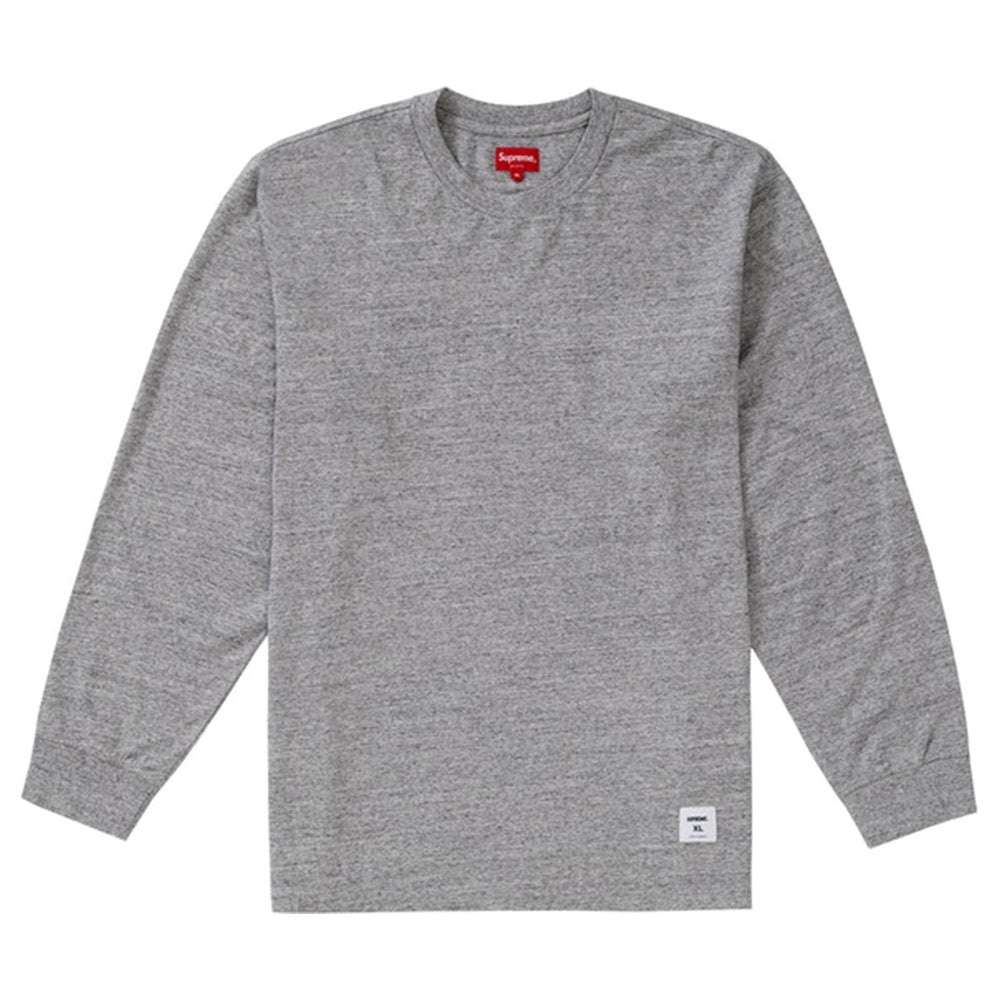 Supreme Trademark L/S Top Heather Grey